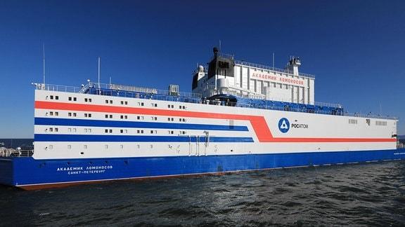Das Schiff Akademik Lomonossow