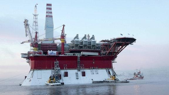 Russland Artkis Ölplattform