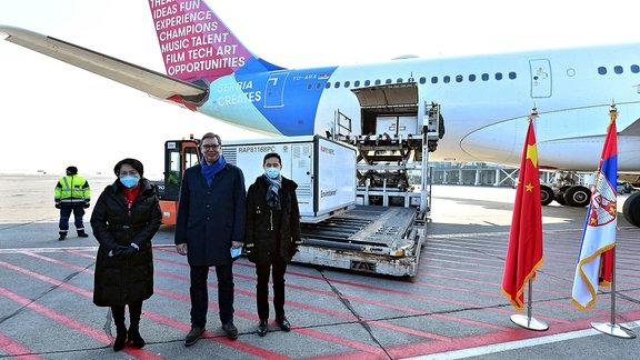 Begrüßung in Serbien auf dem Flughafen.