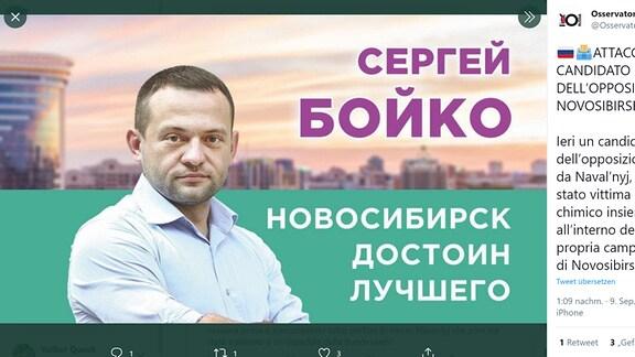 Der russische Oppositionspolitiker Sergej Bojko
