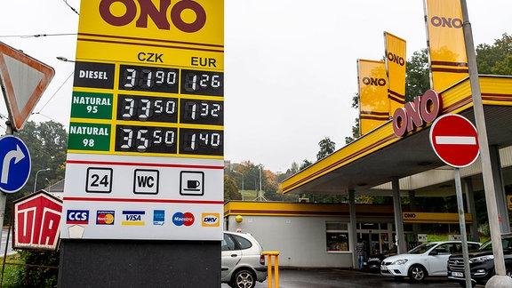 Tankstelle in Usti nad Labem
