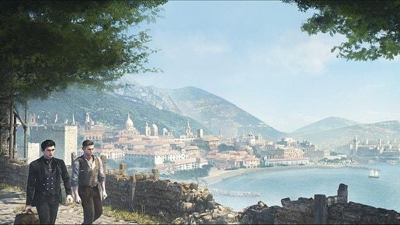 Holmes und Mitarbeiter auf Insel