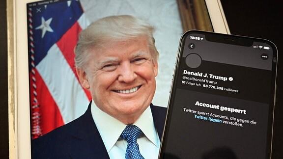 Der Kurznachrichtendienst Twitter sperrt das Konto von Donald Trump
