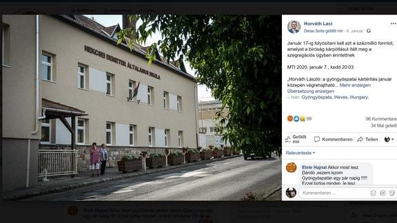 Grundschule im ungarischen Gyöngyöspata