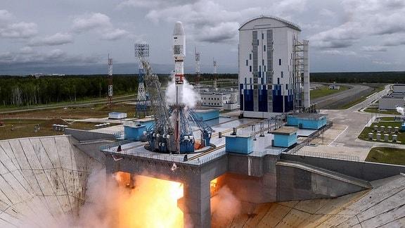 Start einer Soyuz-2-Rakete