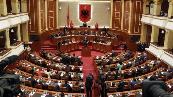 Albanisches Parlamentsgebäude, Innenansicht