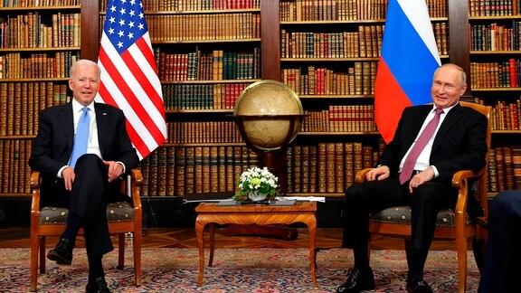 US Präsident Joe Biden and Russlands Präsident Vladimir Putin