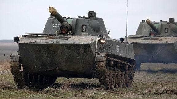 Panzer bei einer Militärübung