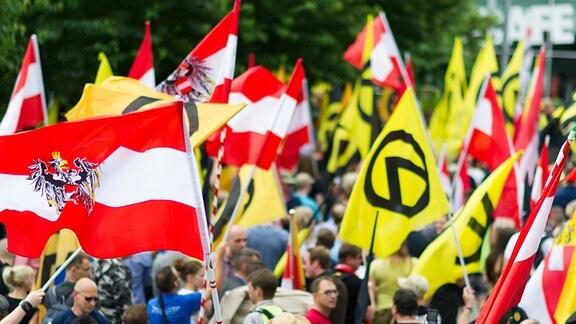 Demonstration der Identitären Bewegung Österreich 2016 in Wien