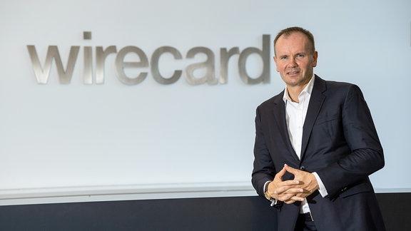 Markus Braun, Vorstandsvorsitzender von Wirecard, steht bei einem Fototermin in der Firmenzentrale.