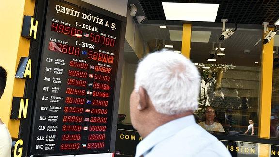 Wechselstube in Istanbul vom 2. August 2018