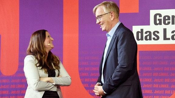 Janine Wissler und Dietmar Bartsch