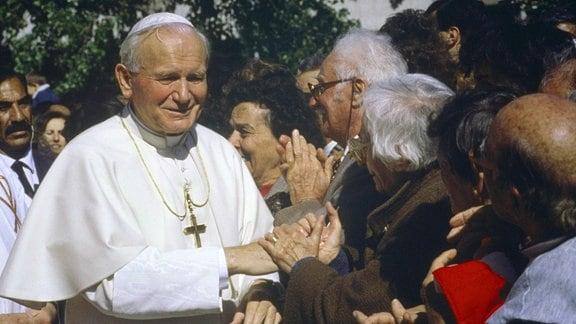 Karol Wojtyla als Papst Johannes Paul II.