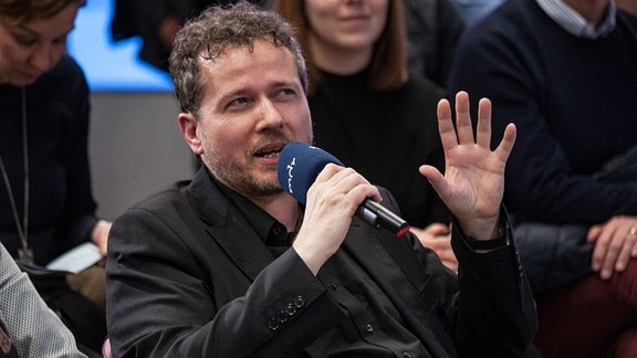 Mirko Behrchen, Herstellungsleiter der Redaktion Telemedien, war eines der fünf Jury-Mitglieder beim Pitchday.