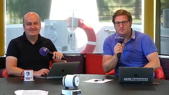 Inputgeber MDR next Digitalkonferenz 2020, Michael Bröcker und Daniel Fiene