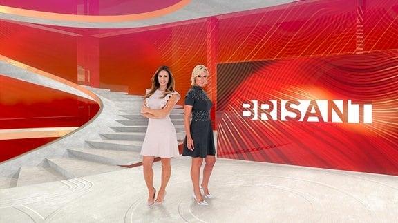 v.l.: Mareile Höppner und Kamilla Senjo im neuen Brisant Studio ab 04.11.2019