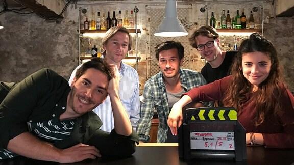 Im Bild v.l.: François Goeske, Michael Luda, René Geisler, Kai Schöttle und Helen Woigk