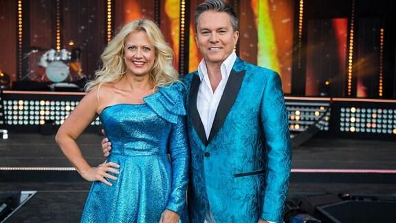 Die Moderatoren der Show: Barbara Schöneberger und Alfons Haider