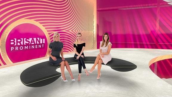 v.l.: Kamilla Senjo, Susanne Klehn und Mareile Höppner im neuen Brisant Studio ab 04.11.2019