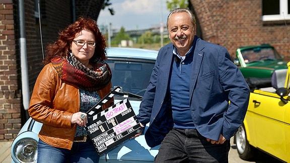 1. Klappe mit Jana von Rautenberg (Regie), Wolfgang Stumph