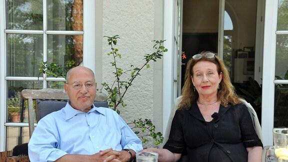 Gregor Gysi mit seiner Schwester Gabriele Gysi