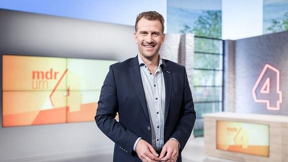 """René Kindermann im """"MDR um 4""""-Studio"""