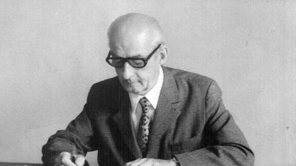 Georg Rentsch als Anwalt in den 1980er Jahren.