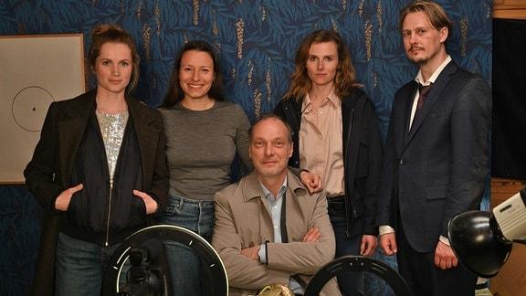"""Drehstart Tatort Dresden """"Das Kalte Haus""""(AT) mit: Cornelia Gröschel, Anne Zohra Berrached, Martin Brambach, Karin Hanczewski und Christian Bayer"""