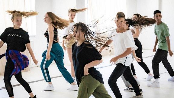 """Proben fürs Casting der MDR-Tanz-Doku-Serie """"My Move 2 - Tanz deines Lebens"""""""