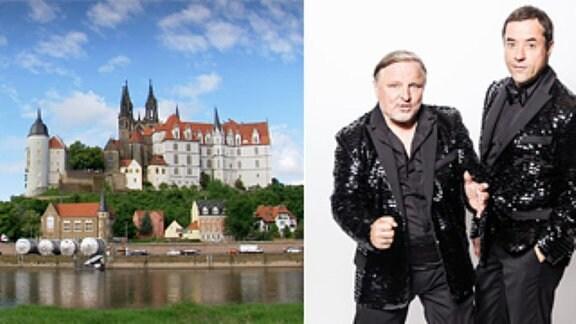 """Collage: MDR extra: 25 Jahre Wiedergründung Freistaat Sachsen, """"Soundtrack Deutschland – Liefers und Prahl ermitteln"""",  25 Jahre Einheit '90 - Leipzig im Herbst"""