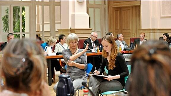 Treffen von Senderverantwortlichen und Spitzenvertretern der Blinden- Sehbehinderten- und Gehörlosenverbände in Leipzig am 4.10.2012