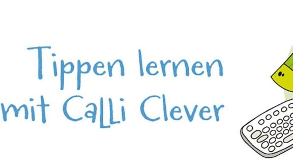 """Logo von """"Tippen lernen mit Calli Clever"""""""