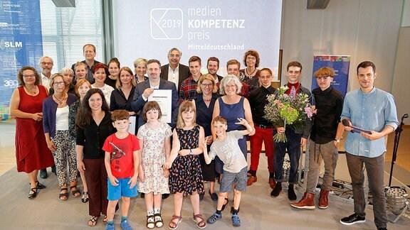Gruppenfoto mit den Preisträgern 2019