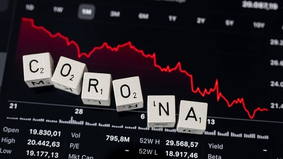 Illustration - Corona - Börse - Aktien