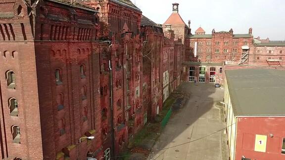 Luftaufnahme von der alten Brauerei in Dessau