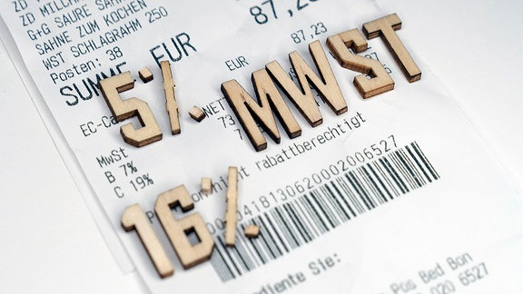 Symbolbild Mehrwertsteuer-Senkung