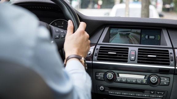 Rückfahrkamera in einem Auto