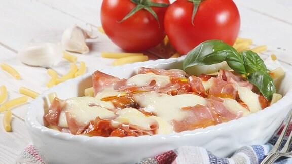 Pasta-Auflauf mit Mortadella