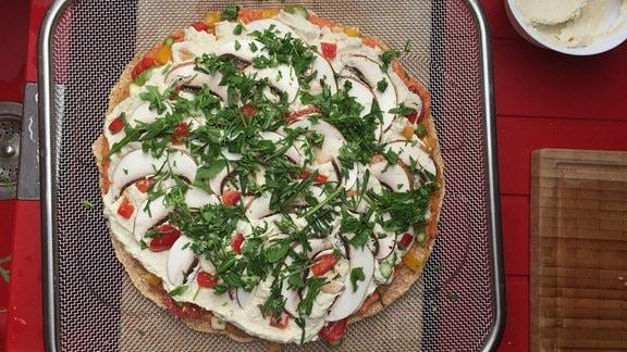 Rohkost-Pizza