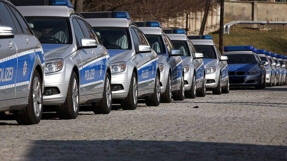Dienstwagen der Thüringer Polizei