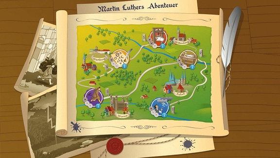 Onlinespiel: Martin Luthers Abenteuer