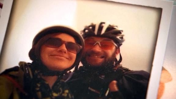 Foto von Thomas und Heidrun in sportlicher Montur.
