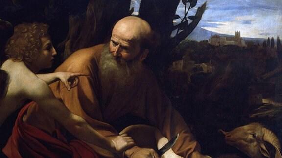 Gemälde von Caravaggio: Abrahams Opfer