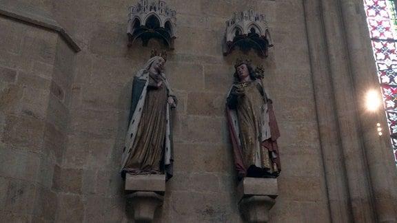 Stifterfiguren Otto der Grosse und Adelheid.