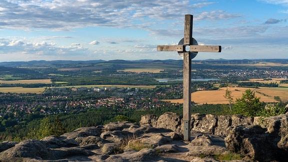 Gipfelkreuz auf dem Töpfer