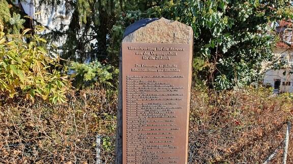 Gedenkstele in Römhild