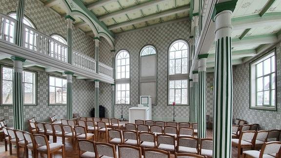 Synagoge von Berkach innen