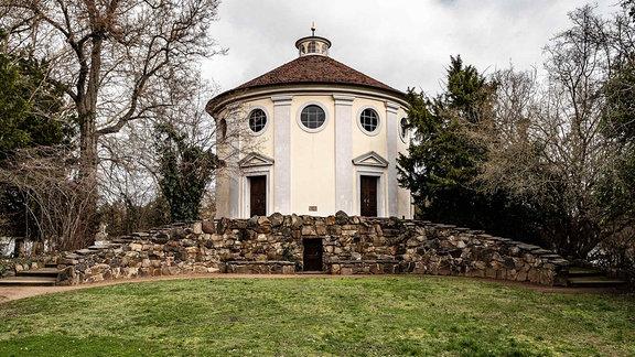 Synagoge im Landschaftspark Wörlitz am Ende der Amtsgasse. Heute mit einer Ausstellung zur Geschichte der jüdischen Gemeinden in Anhalt