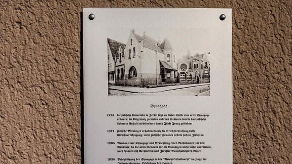 Ansicht des 1945 zerstörten Synagogengeländes an der Wolfsbrücke in Zerbst