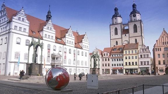 Der Marktplatz der Lutherstadt Wittenberg.